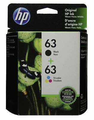 View Details HP #63 Combo Ink Cartridges 63 Black & Color NEW GENUINE • 22.75$