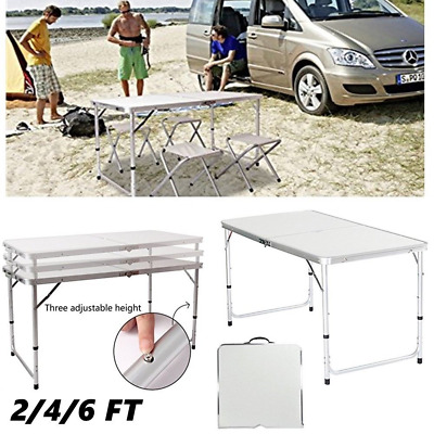 HEAVYDUTY Portable Folding Camping Picnic Table Party Kitchen Outdoor Garden BBQ • 29.99£