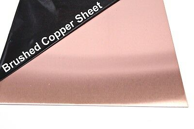 £12.32 • Buy BRUSHED COPPER SHEET Square 1.2mm 18's Swg Thick Guillotine Cut New Metal Plate