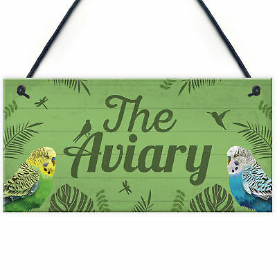 £3.99 • Buy The Aviary Bird Aviary Sign Bird Accessories For Cage Garden Plaque Gift For Nan