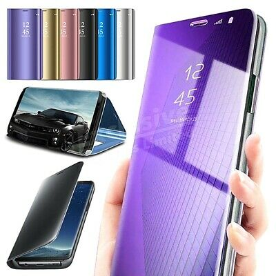 $ CDN8.48 • Buy Samsung Galaxy S8 S9 S10+ S7 Case Smart 360 View Mirror Leather Flip Stand Cover