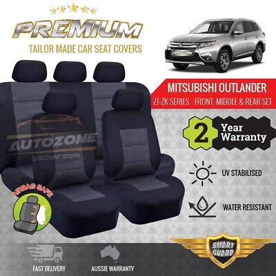 AU249 • Buy Premium Seat Covers For Mitsubishi Outlander 7 Seater 3ROWs 11/2012-On GREY