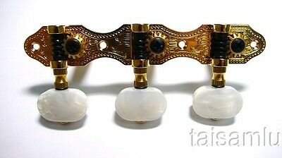 $ CDN29.07 • Buy Classical Guitar Gold Plated Tuner White Acrylic Button 405G-AW Free Shipping