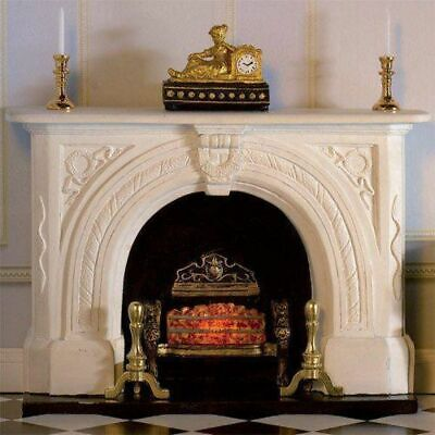 1/12 Scale Dolls House Emporium White Carved Stone Fireplace 7436 • 17.95£