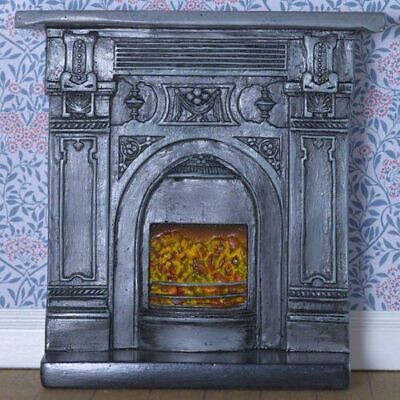1/12 Scale Dolls House Emporium Victorian Style Cast Iron Effect Fireplace 8091 • 9.95£