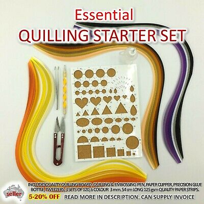 AU18.50 • Buy Paper Quilling Kit Starter Gift Set Strip Supplies DIY Quilling Craft Tools