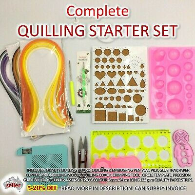AU36 • Buy Paper Quilling Kit Complete Gift Set Strip Supplies DIY Quilling Craft Tools