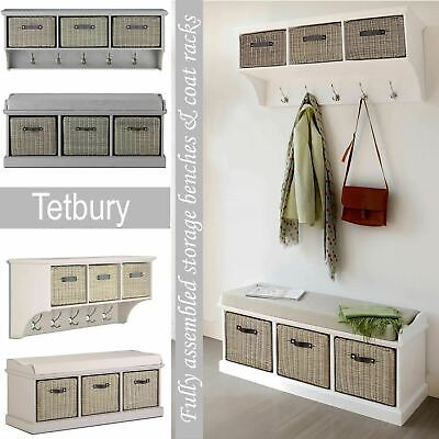 £129.99 • Buy Tetbury Bench And Hanging Shelf, Extra Strong Storage Baskets.Hallway Furniture