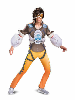 AU54.86 • Buy Blizzard Overwatch Tracer Deluxe Costume Lena Oxton Junior Womens Teens Cosplay