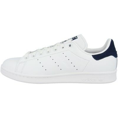 Adidas Stan Smith Donne Scarpe Originali Sneakers Casual Bianco Blu Marino  • 82.40€ 919e610b410