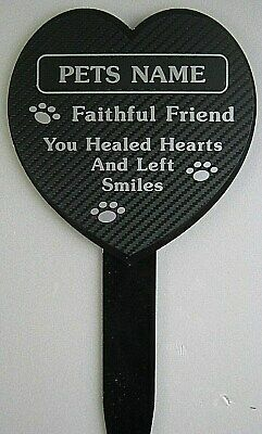 £8.99 • Buy Personalised Dog Pet Memorial Tribute Plaque Stake Marker Spike Silver