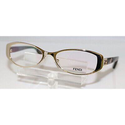 28f442b929 NOS Fendi Gold Oval Eyeglasses F899 714 50 16 140 Italy Womens • 69.95