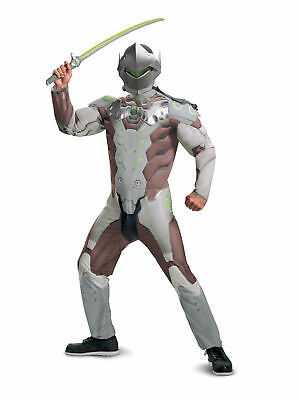 $ CDN52.61 • Buy Blizzard Overwatch Genji Deluxe Muscle Chest Adult Men's Cosplay Costume MD-XL
