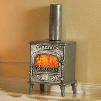 1/12 Scale Dolls House Emporium Wood Burning Burner Stove Fire Grey 5758 • 9.95£