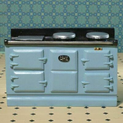 1/12 Scale Dolls House Emporium Light Blue Large Aga-Style Stove Oven 8096 • 12.99£