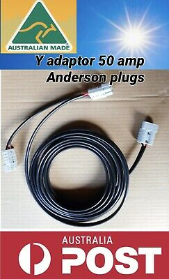 AU44.99 • Buy 5 M Twin Tycab Auto 6mm Cable Double Y Adaptor With 50 Amp Anderson Style Plug