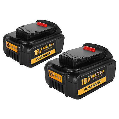 2Pack 5.0AH 18V XR Li-ion Battery For Dewalt DCD785 DCB182 DCB180 DCF885 DCB200 • 47.99£