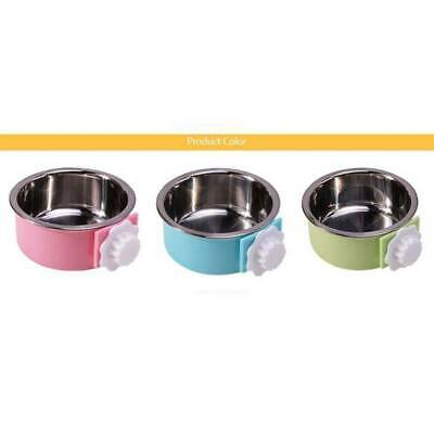 Dog Puppy Cat Pet Animal Cage Crate Run Hang-on Bowl Feeding Food Water Dish LC • 4.78£
