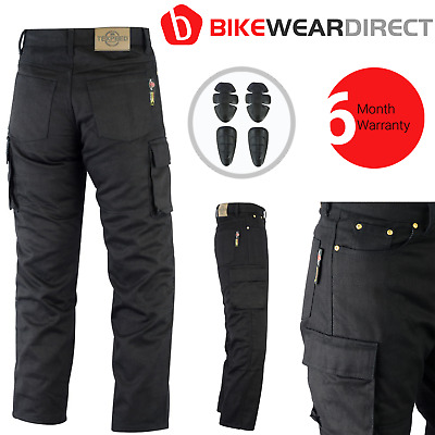Motorbike Motorcycle Cargo Jeans Trousers Aramid Protective With CE Biker Armour • 64.99£