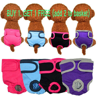 Female Pet Dog Physiological Pants Sanitary Nappy Diaper Shorts Underwear UK • 4.99£