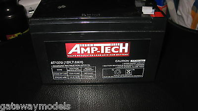 AU39.99 • Buy AMP TECH 12v 7amp BATTERY AT1270 SUITABLE FOR NBN & ALARM BACK UP BATTERIES