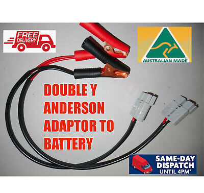 AU35.99 • Buy 50 Cm Y Double Adaptor  Anderson Style Plug Twin 6mm Cable Alligator Clips