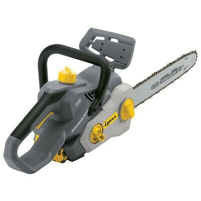 View Details Lynxx 40 Volt Chainsaw  Lithium Battery Cordless Charger Chain Saw Brushless  14 • 240.19£