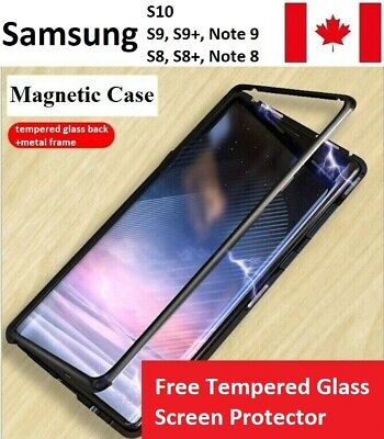 $ CDN11.16 • Buy Samsung Magnetic Absorption Single Glass Case S10,S9,Plus,Note 9,S8,Plus,Note 8