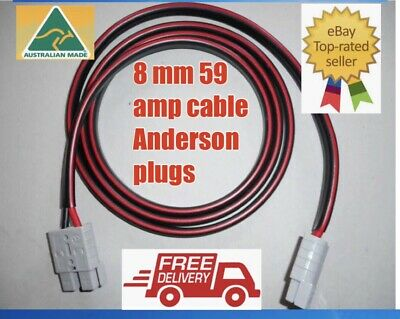 AU35.55 • Buy 2 M 8mm 8b&s Twin Core Dc Tycab Cable Anderson Style Plugs Extension Lead