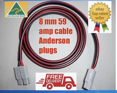 AU39.50 • Buy 3 Meter 8mm 8b&s Twin Core Dc Tycab Cable Anderson Style Plugs Extension Lead