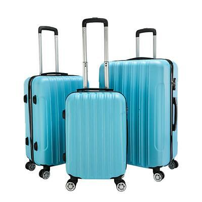 View Details Hardside 3 Piece Nested Spinner Suitcase Luggage Set With TSA Lock • 86.69$