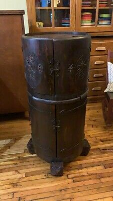 $2650 • Buy Antique Oak Bar Cabinet Cellarette Arts & Crafts 1910's 1647 War Liquor Cabinet