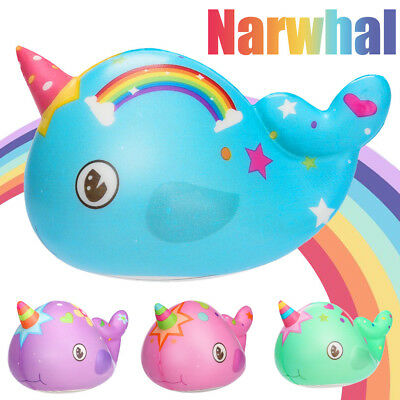 AU5 • Buy Squishies Toy Kawaii Narwhal Slow Rising Cream Scented Stress Relief Toys Gifts
