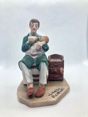 "$ CDN21.03 • Buy Norman Rockwell Figurines(feeding Milk Baby) 4"" Tall"