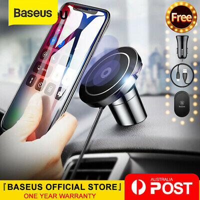AU36.99 • Buy Baseus Qi Wireless Charger Magnetic Car Phone Holder For IPhone XS 8 Samsung S10