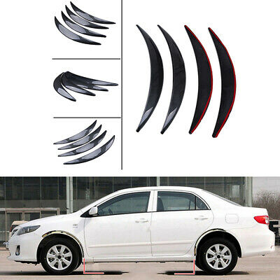 $27.99 • Buy 4Pcs Universal Car Fender Flares Eyebrow Protector ABS Wide Body Wheel Arches