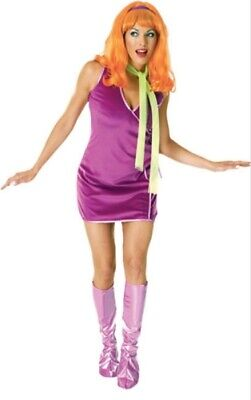Womens Adult SCOOBY DOO Daphne Dress Costume Outfit • 43.81£
