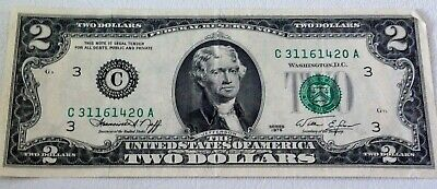 $ CDN12 • Buy 1976 Series US Two Dollar Federal Bank Note # C 31161420 A