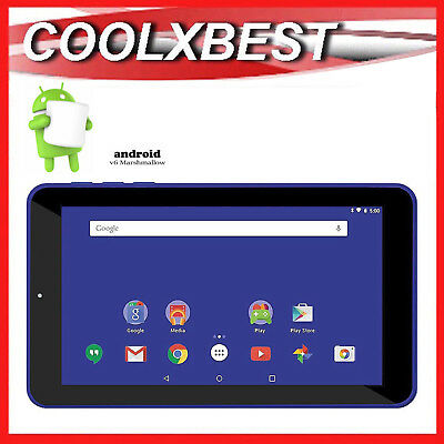 AU55.98 • Buy 7  BLUE ANDROID 6.0 TABLET PC QUAD CORE 16GB BLUETOOTH & WiFi KIDS STUDENT