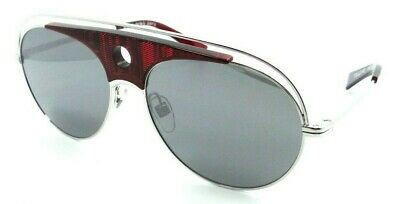 £62.94 • Buy Alain Mikli Sunglasses A04010 001/6G 59-16-140 Toujours Red Dot Silver / Grey