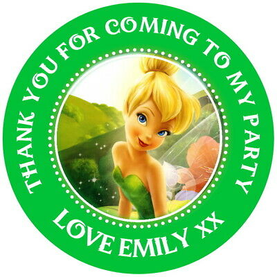 £2.40 • Buy Personalised Tinkerbell Gloss Birthday Party,stickers,sweet Cone Labels
