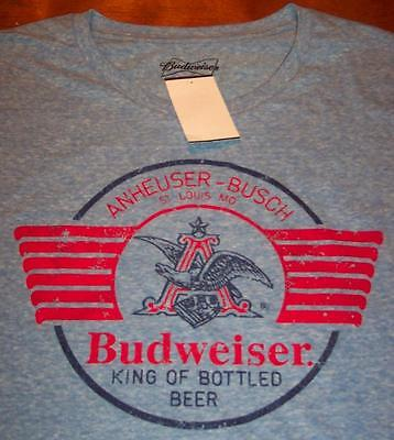 $ CDN25.26 • Buy VINTAGE STYLE BUDWEISER BEER ANHEUSER-BUSCH T-shirt SMALL NEW W/ TAG
