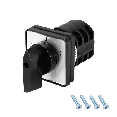 £10.60 • Buy Changeover Switch 3 Positions Rotary Selector Cam Switch 12 Terminals Latching