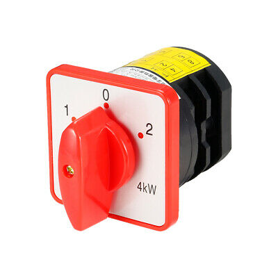 £13.33 • Buy Changeover Switch 3 Siuation Rotary Selector Cam Power Switch 8 Latching