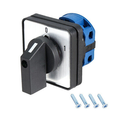 £10.71 • Buy Changeover Switch 2 Positions Rotary Selector Cam Switch 4 Terminals Latching