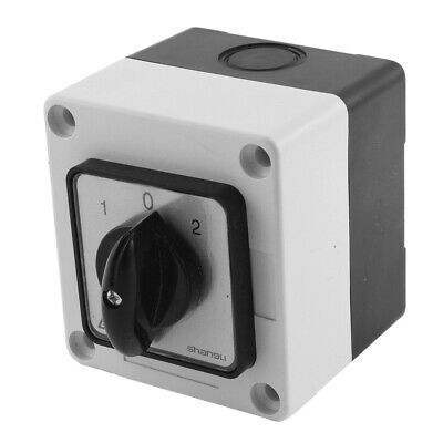 £16.95 • Buy Ui 660V Ith 20A 3 Position Rotary Cam Changeover Switch W Control Box