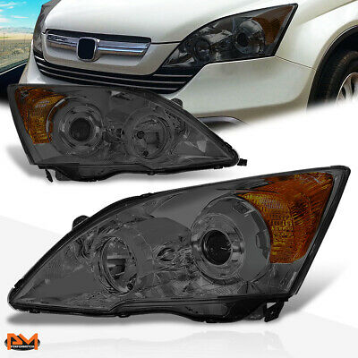 $174.89 • Buy For 07-11 Honda CRV Projector Headlight OE Replacement Smoked Lens Amber Corner