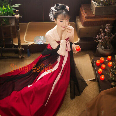 $ CDN56.10 • Buy Women's Dress Ancient Costume Tops Skirt 2 Pcs Set Hanfu Suit Cosplay Chinese