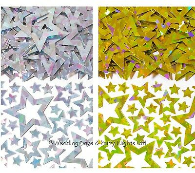 £3.69 • Buy 3 Bags Silver Or Gold Star Table Confetti Wedding Birthday Party Decorations