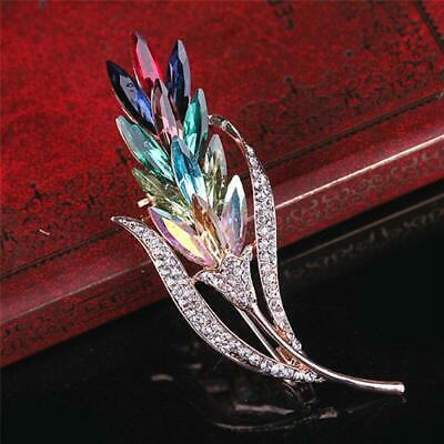 £2.72 • Buy Women Crystal Wedding Flower Brooch Pin Jewelry Badge Dress Party Charm Gift LC